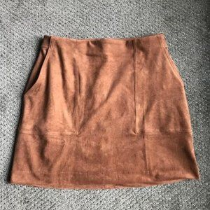 Faux suede mini skirt from Banana Republic